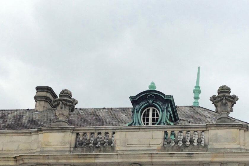Neobarockes Dach im Kurpark Bad Oeynhausen