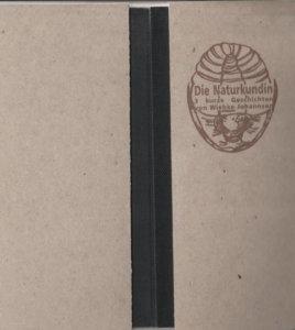 """Cover vom Buch: """"Die Naturkundin"""" von Wiebke Johannsen. Mit einer Zeichnung eines Trilobiten von Birgit Kiupel"""